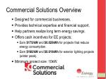 commercial solutions overview