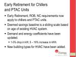 early retirement for chillers and ptac units