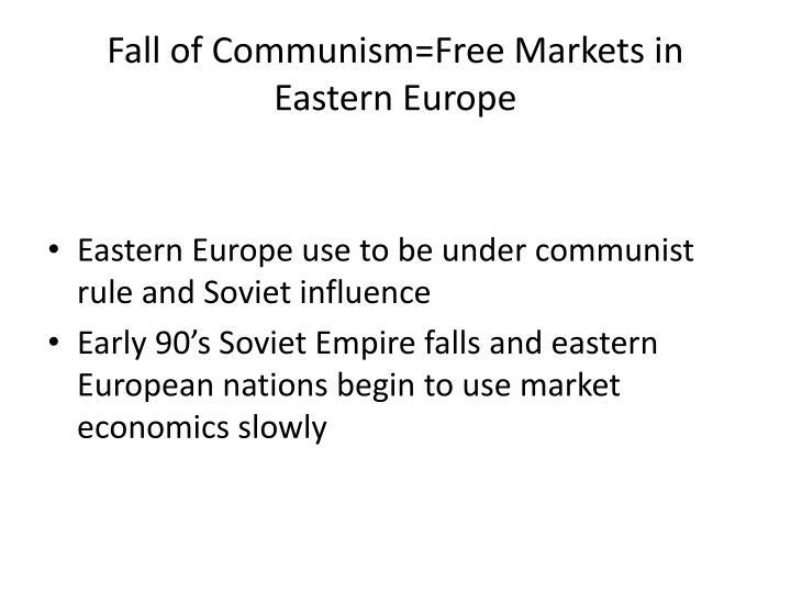 Fall of Communism=Free Markets in Eastern Europe