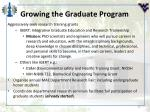 growing the graduate program