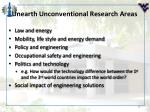 unearth unconventional research areas