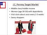 j c penney target market