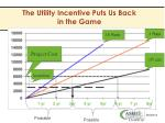 the utility incentive puts us back in the game