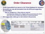order clearance