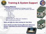training system support