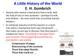 a little history of the world e h gombrich