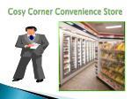 cosy corner convenience store
