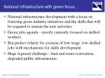 national infrastructure with green focus