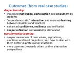 outcomes from real case studies