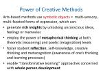 power of creative methods