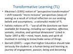 transformative learning tl