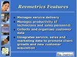 revmetrics features