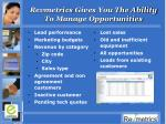 revmetrics gives you the ability to manage opportunities
