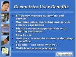 revmetrics user benefits
