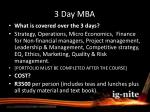 3 day mba2