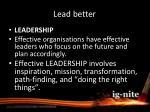 lead better