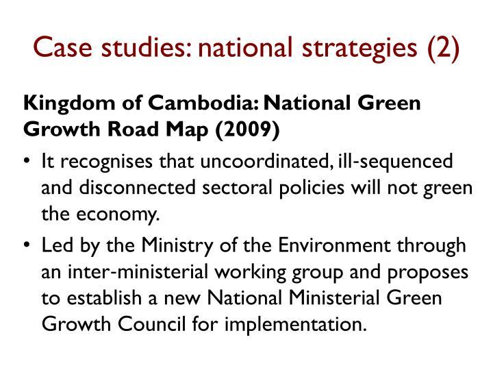 Case studies: national strategies (2)