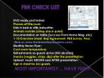 pbr check list