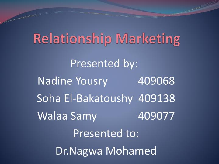 relationship marketing n.