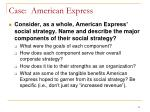 case american express