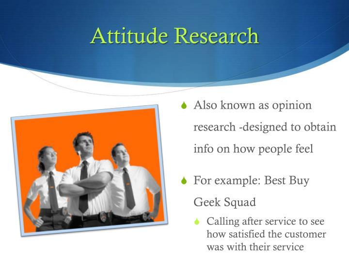 Attitude Research