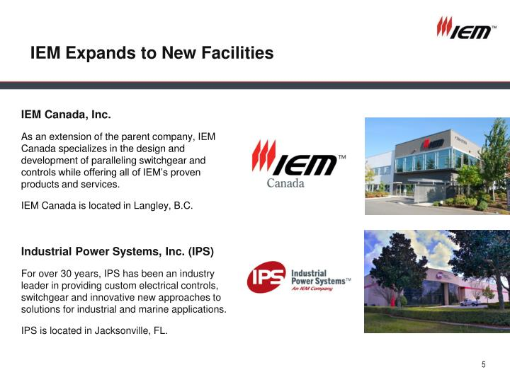 IEM Expands to New Facilities