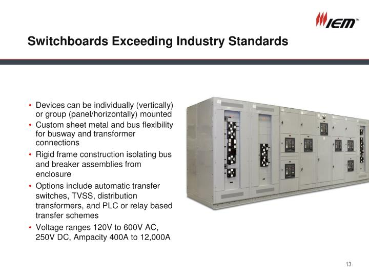 Switchboards Exceeding Industry Standards