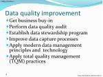 data quality improvement