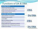 functions of da dba1