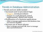 trends in database administration