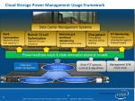 cloud storage power management usage framework