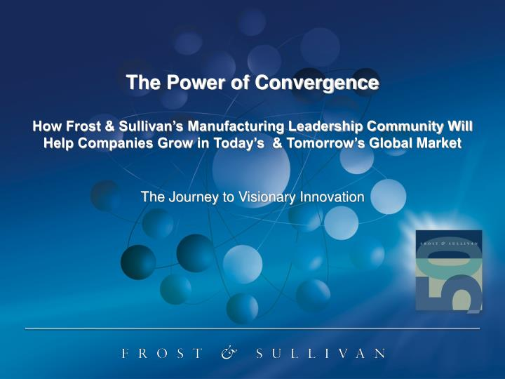 the journey to visionary innovation n.