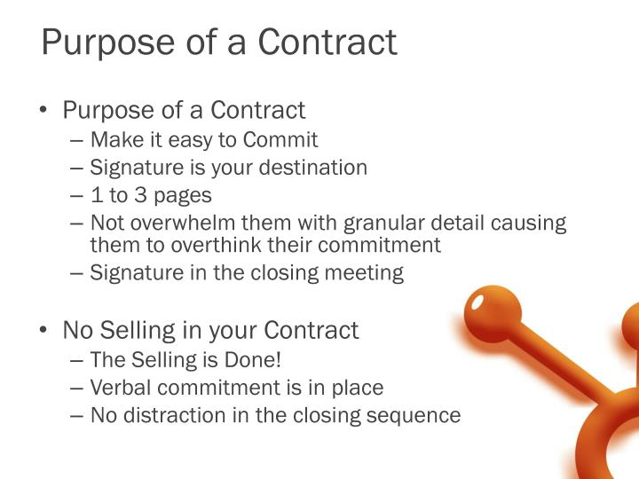 Purpose of a Contract