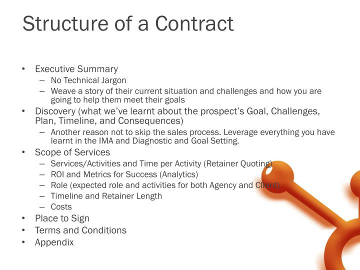 Structure of a Contract