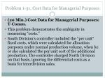 problem 1 31 cost data for managerial purposes