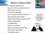 players in silicon valley