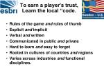 to earn a player s trust learn the local code