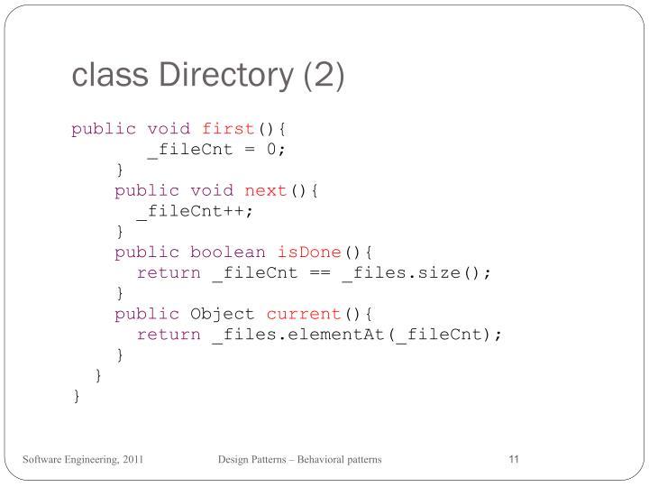 class Directory (2)