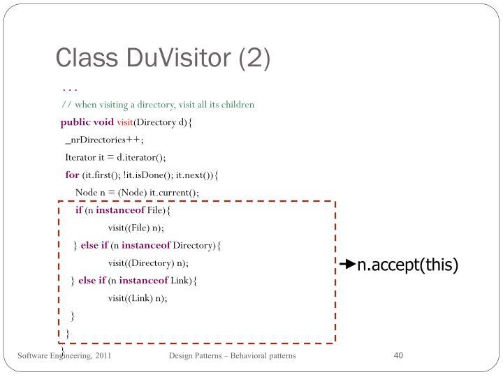 Class DuVisitor (2)