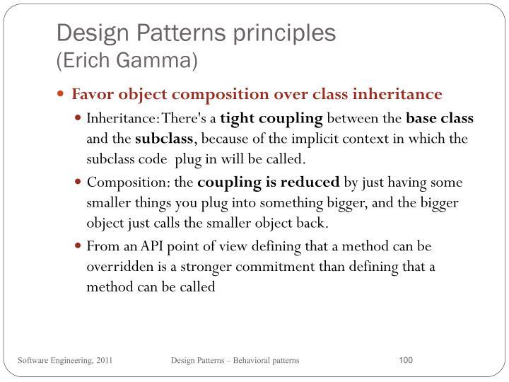 Design Patterns principles