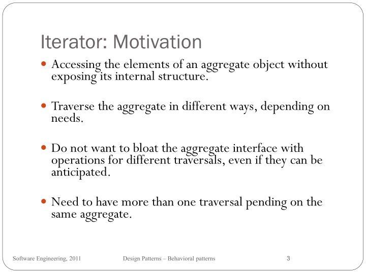 Iterator motivation