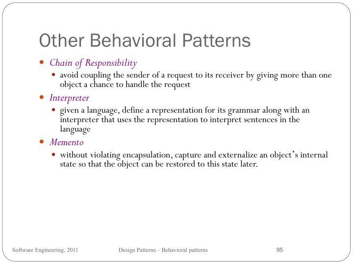 Other Behavioral Patterns