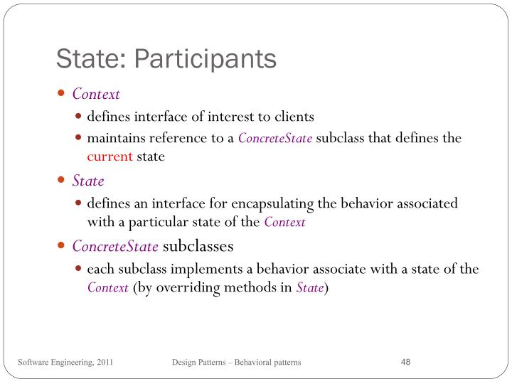 State: Participants