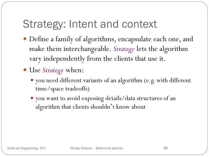 Strategy: Intent and context