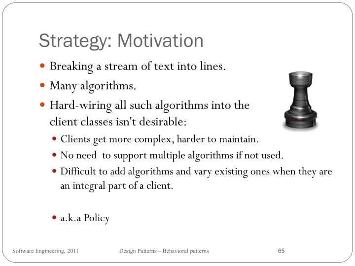 Strategy: Motivation