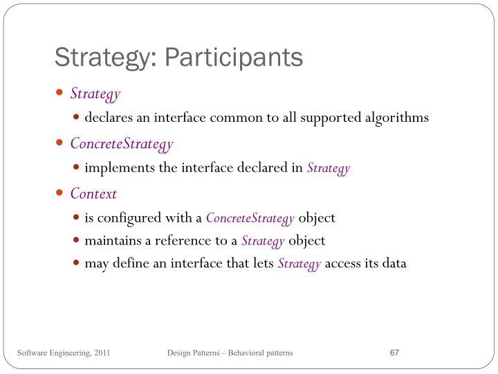 Strategy: Participants
