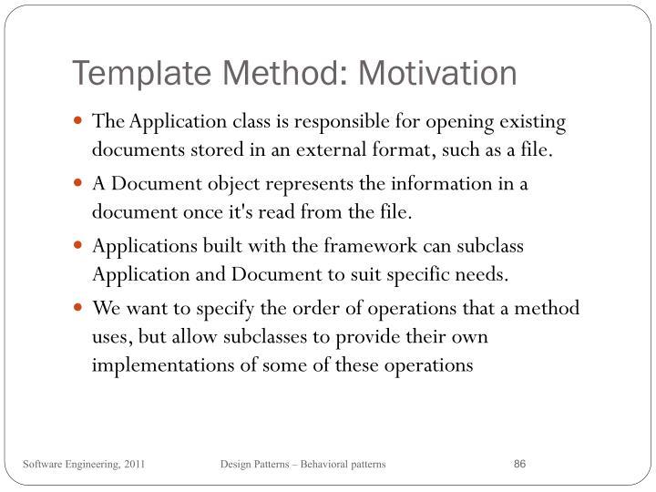 Template Method: Motivation