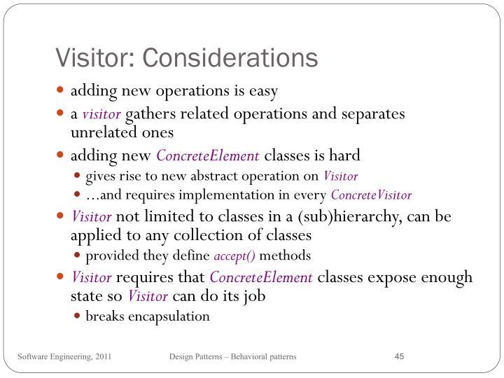 Visitor: Considerations