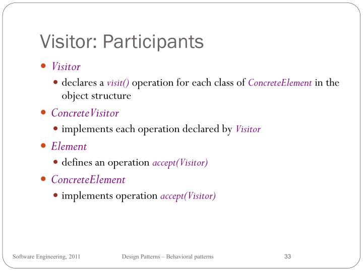 Visitor: Participants