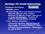 strategy 5 social networking